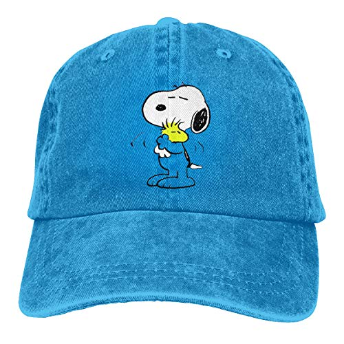 Stylish Snoopy-Purple-Widescreen-Wallpaper-Image-iPhone Print Neutral Cotton Denim Adjustable Hat for Men and Women