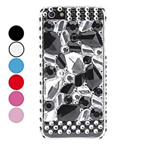 SJT Rhinestones Style Special Design Hard Case for iPhone 5/5S , Blue