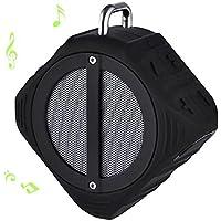 ALLCACA Portable Bluetooth Speaker Waterproof Bluetooth Speaker Small Speakers with Microphone, Black