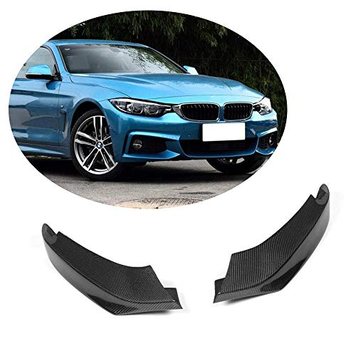 (MCARCAR KIT Front Splitter fits BMW 4 Series F32 F33 F36 M-Sport 2014-2018 Customized 420i 428i 435i 440i M Packet Real Carbon Fiber Moulding Upper Spoiler Vents Cover Flaps)