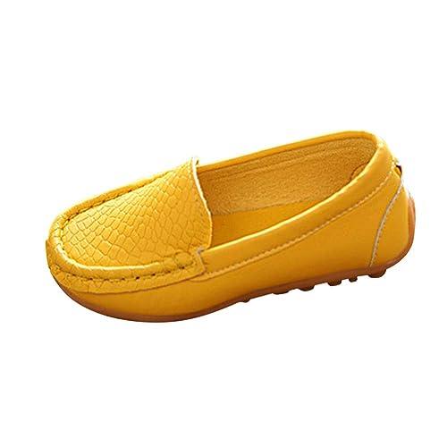 Gtagain Mocasines Unisex Niños Antideslizante - Zapatos Niño Niña Pisos Cuero Caminar Guisantes Oxford Slip-on Casual Zapatillas de Deporte Bote Zapato ...