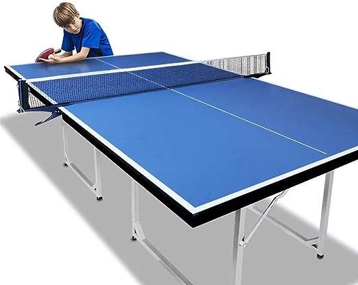 Mesa de Ping Pong Plegable Mesa de Ping Pong con levas de Bolas y ...