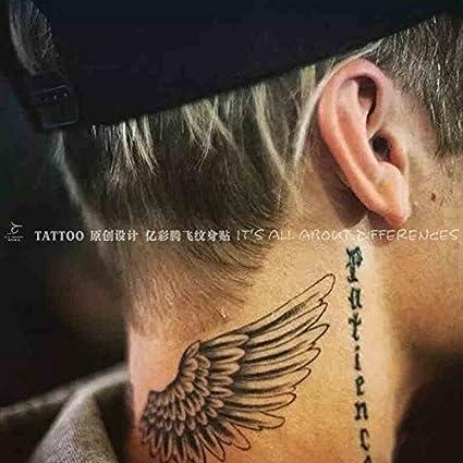 Oottati 2 Hojas Alas Ángel Tatuajes Temporales TF218: Amazon.es ...
