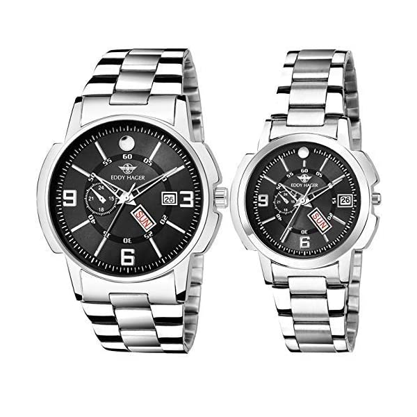 Eddy Hager Day & Date Couple Watch Combo EH-501