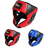 RDX Maya Hide Leather Kids Boxing MMA Headgear Junior Head Guard Children Youth Helmet (CE Certified Approved by SATRA)