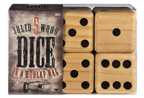 - Cardinal 5 Giant Wood Dice Giant Game