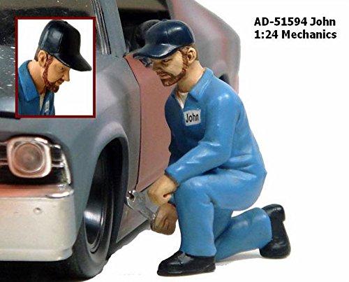 Mechanic John Figurine For 1:24 Scale Diecast Car Models by American Diorama 51594