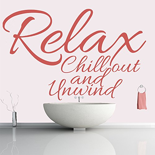 - Relax Chill Out And Unwind Life And Inspirational Quote Wall Stickers Art Decals available in 5 Sizes and 25 colors X-Large Fuchsia Pink