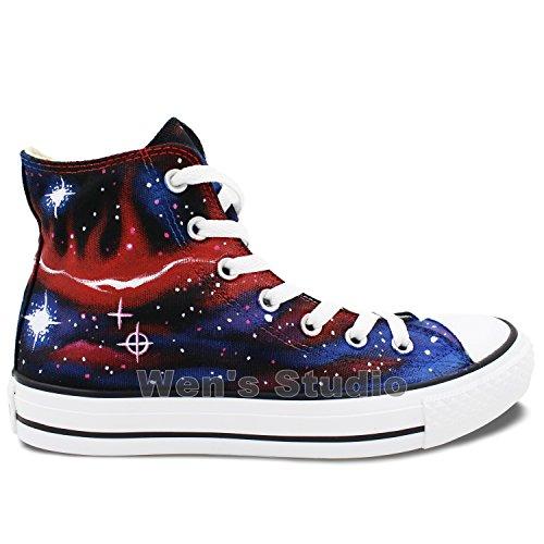 Wen Scarpe Di Design Originali Dipinti A Mano Galaxy Nebula Canvas Uomo Donna Sneakers