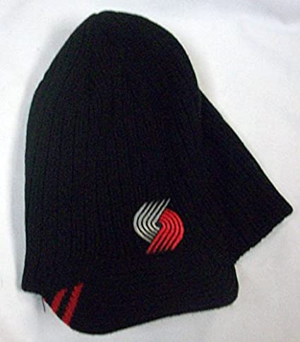 ec504f35abc Image Unavailable. Image not available for. Color  NBA Portland Trail  Blazers Visor Knit Hat ...