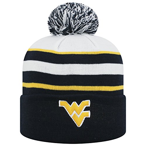 (Top of the World West Virginia Mountaineers Official NCAA Cuffed Knit Skyview Stocking Stretch Sock Hat Cap Beanie 480275)
