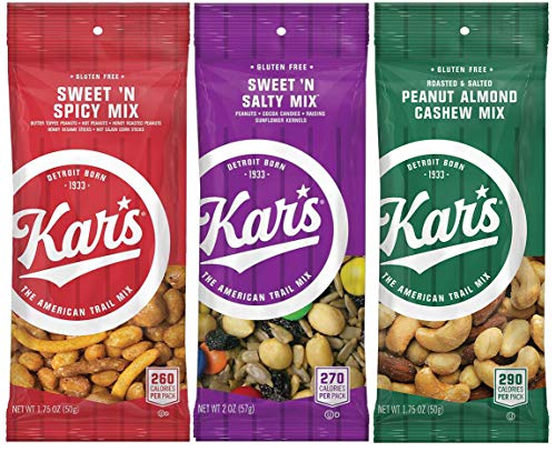 Kar's Nuts Variety Mix - Sweet 'n Spicy Mix, Sweet 'n Salty Mix, Peanut Almond Cashew Mix (48 bags)