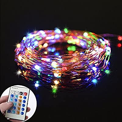 Ledgle Led String Lights,4W Dimmable Copper Wire 26ft 80 LED Starry String lights with Red Yellow Blue Green 5v Power Adapter, Suitable for Indoors or Outdoors