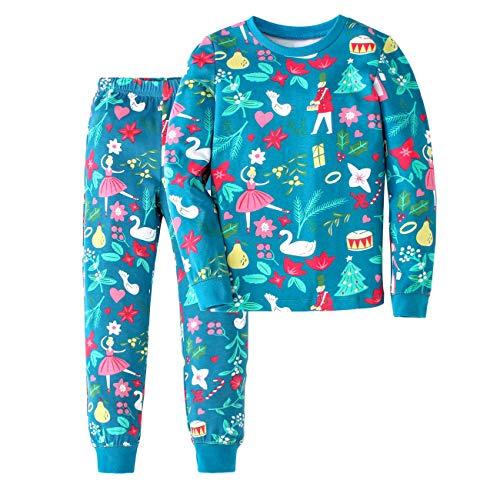 SHANGPIN Boys Thermal Underwear Set Boys Pajamas Cute Long Base Layer for Toddler Kid (M, Lakeblue)