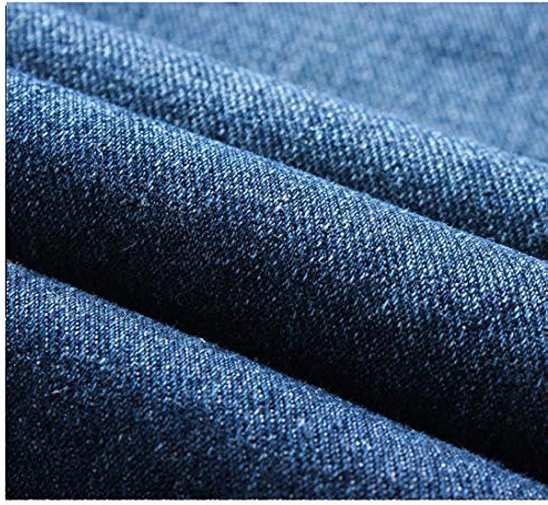Denim Jeans Pencil Pants Męskie Elastic Drawstring Solid Hose: Odzież