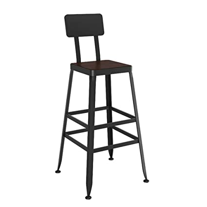 Superb Amazon Com Zzmop Black Wrought Iron Bar Stool High Stool Evergreenethics Interior Chair Design Evergreenethicsorg