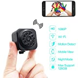 DareTang hidden camera 1080p HD mini wifi camera spy camera wireless camera for iPhone/Android Phone/iPad Remote View with Motion Detection,10pcs Ir Super Night Vision
