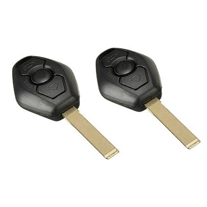 2 x BMW Key Case Remote Uncut Key Shell Case Compatible with BMW X3 X5 Z3  Z4 325i 525i 330i