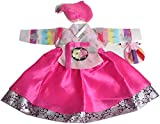 Korean Hanbok Girls Traditional Costumes Dress 1-14 Ages Birthday Party hg062/1 (8 Ages)