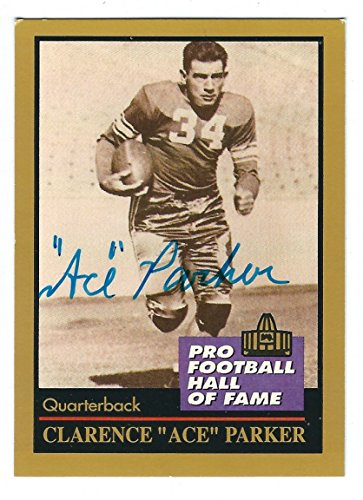 Autographed Ace Parker Brooklyn Dodgers 1991 Enor Football Card with COA (Parker Autographed Card)