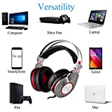 K5U PS4 Gaming Headset, Xbox One Gaming Headset, PC Game Headset, Professional Game Earphones & USB 7.1 Surround Sound Earphones, Noise Cancelling for Mic, PS4, PC, Xbox One, Laptop