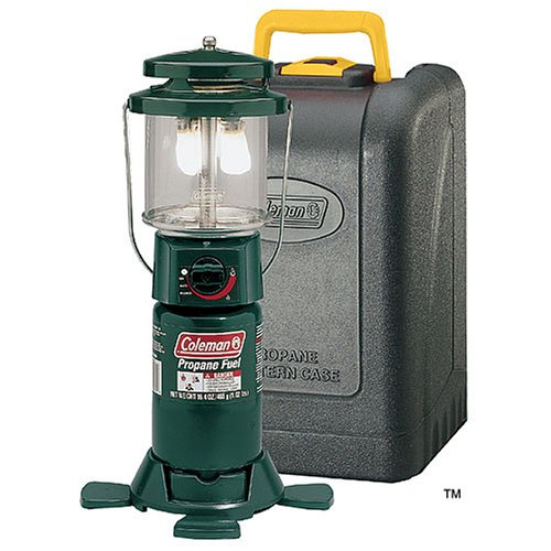 Coleman Two-Mantle Propane Lantern with Case (Coleman Deluxe Lantern)