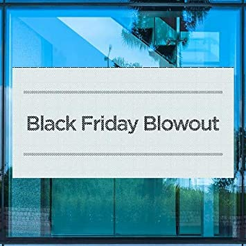 Basic Teal Perforated Window Decal Black Friday Blowout 96x48 CGSignLab