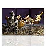 Visual Art Decor Zen Meditation Buddha Painting Photograph Canvas Prints Wall Art Sincere Religion Home Room Decor Artwork Ready to Hang(Antique Buddha, Xlarge 3 32''x16''x3)