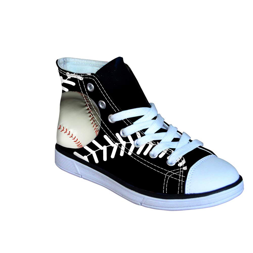 Instantarts Children Boy High Tops Ball Shoes Lace up Canvas Fashion Sneaker