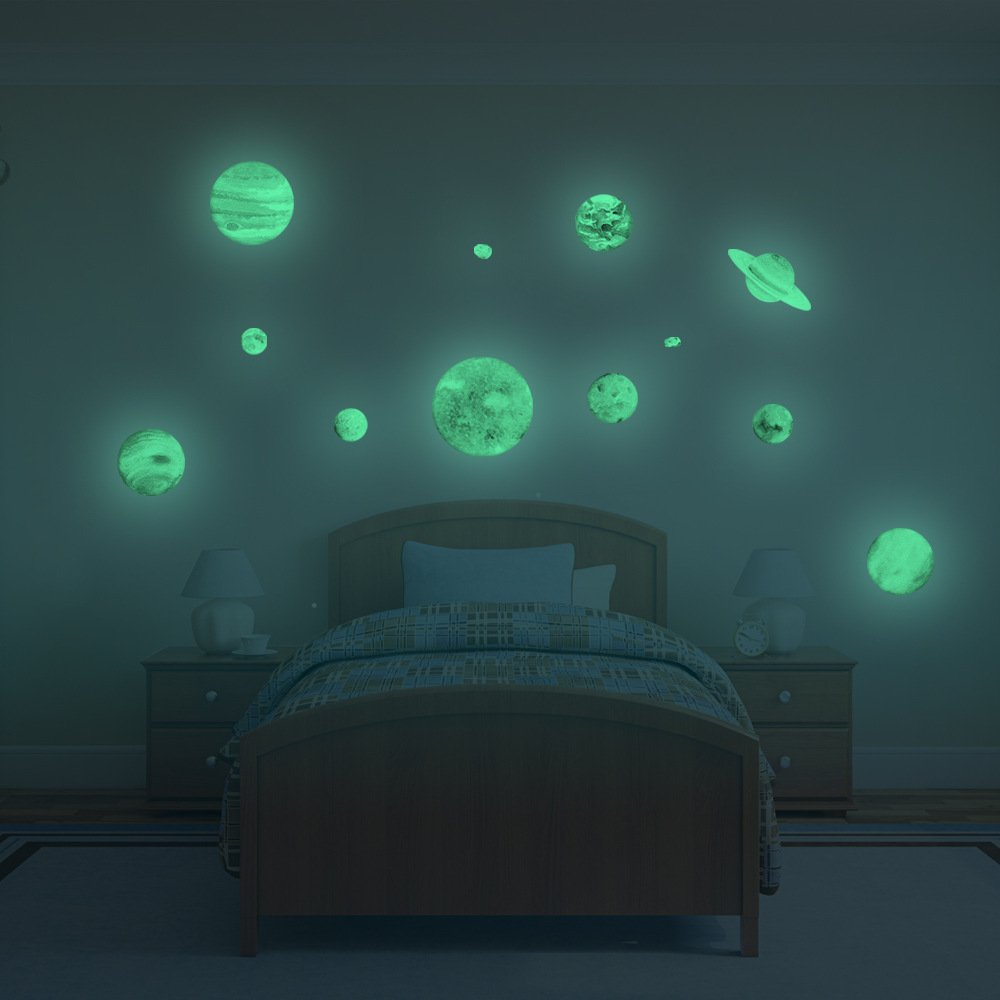 Etiqueta de la pared Luminosa, 9 Planeta Solar Sistema de la ...