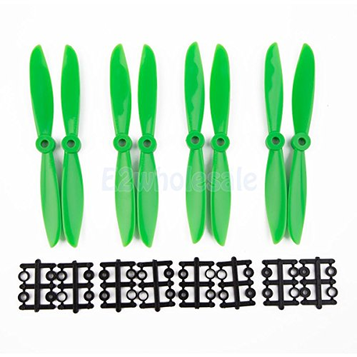 Green 6x4.5'' 6045 ABS Quadcopter Propellers 8 Props 4 Pairs by e2wholesale
