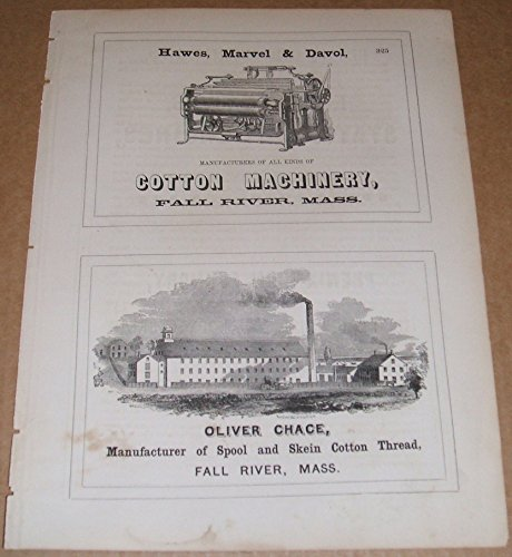 1853 Four 1/2 Page Ads for Iron Foundry, Locomotives, Cotton Machinery , Thread ()