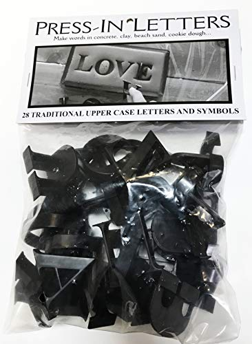 Magnetic Poetry Press in Letters Stone Concrete Stamps - Uppercase Traditional Typeface (Plastic Alphabet Stamps)