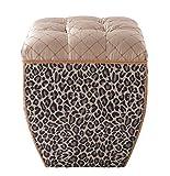 Jennifer Taylor Home 2325-655686 Jan Ottoman, Leopard