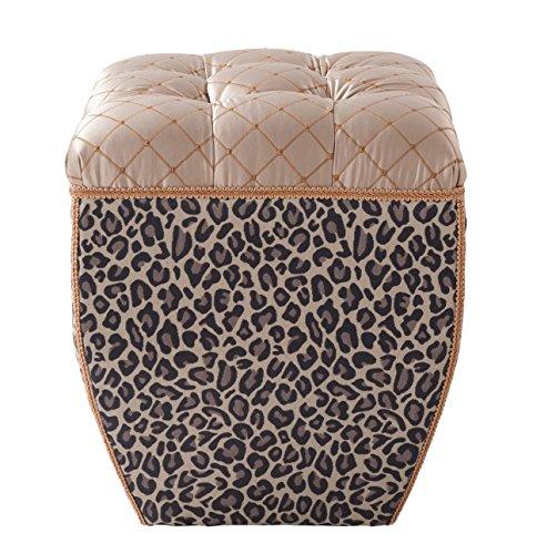 Jennifer Taylor Home 2325-655686 Jan Ottoman, Leopard (Print Animal Ottoman)