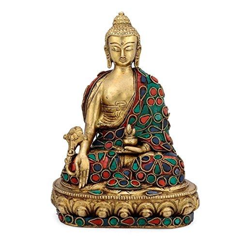 AapnoCraft Thai Medicine Buddha Meditating Statue Of Buddha Magnificent Work Table Decor & Wedding Gifts by AapnoCraft