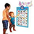 Electronic Interactive Alphabet Wall Chart Talking Abc Poster Educational Music Toy For Baby And Toddler Fun Learning Activity Game Touch Activated Boys Girls