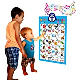 Just Smarty Electronic Interactive Alphabet Wall Chart Talking Abc Poster Educational Music Toy For Baby And Toddler Fun Learning Activity Game Touch Activated For Boys Girls