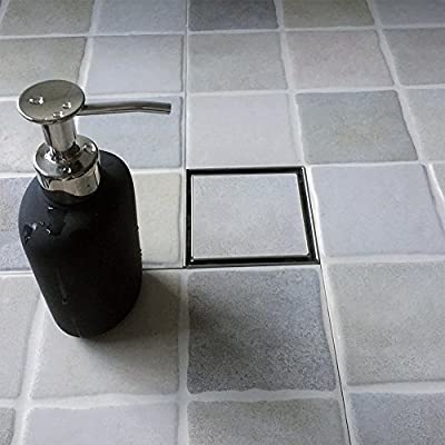Neodrain Square Shower Drain with Removable Grate,Brushed 304 Stainless Steel, with WATERMARK&CUPC Certified