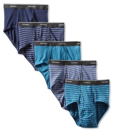 Fruit of the Loom Men's  Stripe Solid Brief - Colors May Vary, Assorted, Medium(Pack of 5)