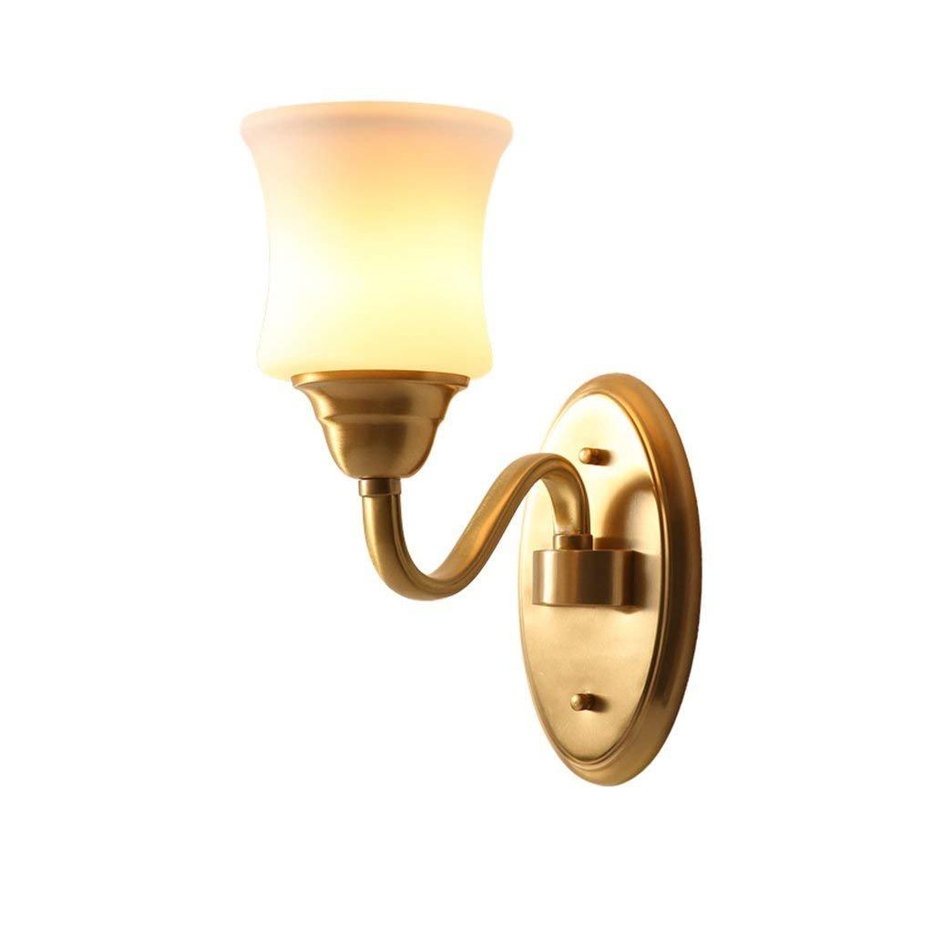 acquista la qualità autentica al 100% WOZUIMEI Lampara de Pared Lámpara de Pared de Cobre Cobre Cobre de Estilo Americano Escalera Pasillo Lámpara de Pasillo Lámpara de Cabecera Minimalista Moderna Lámpara de Pared, Una  disponibile