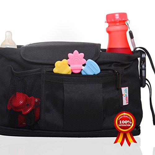 Stroller Organizer bag - Car Organizer - Parent Console Bags for Baby Pram and Toddler Car Seats - bag.