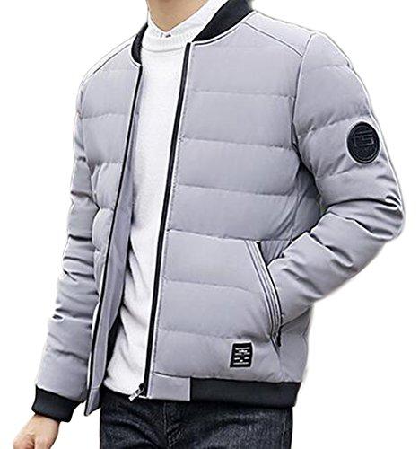 [해외]Jaycargogo 남성 스탠드 칼라 코튼 패딩 자켓 윈터 자켓 코트/Jaycargogo Men`s Stand Collar Cotton-padded Jacket Winter Jacket Coat