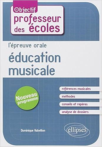 Livre gratuits L'Épreuve Orale Éducation Musicale au Concours de Professeur des Écoles pdf, epub ebook