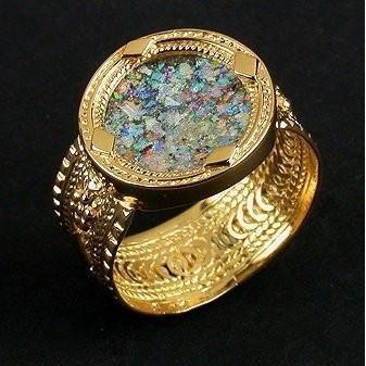 Roman Glass Stone Seal Ring (Glass Roman Stone)
