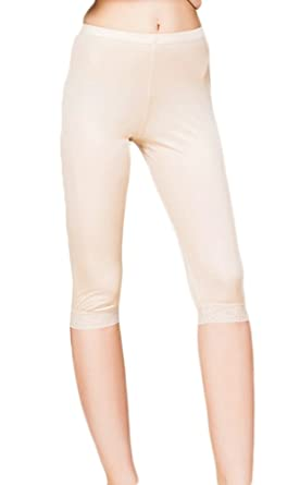 c1e765b13 CLC Women's Mulberry Silk Leggings Knitted Anti-exposure Lace Underwear at  Amazon Women's Clothing store: