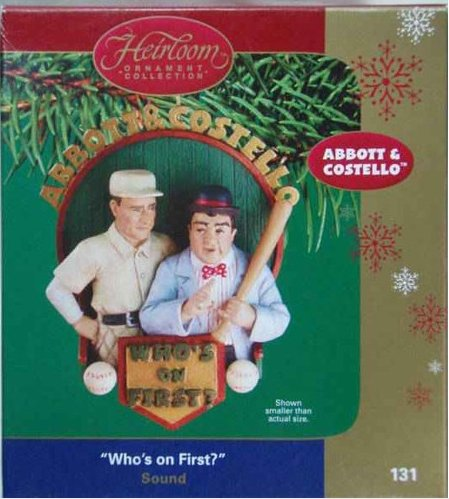 Carlton Heirloom Collection Ornament (CXOR-131L) Abbott & Costello 'Who's On First?' - 2004