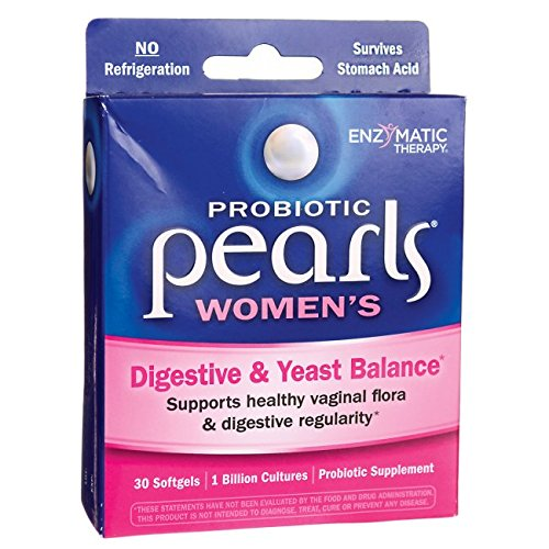 Natures Way Probiotic Pearls Womens, Vaginal and Digestive Health, 30 Softgels. Pack of 2