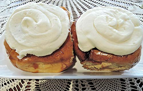 - Home Comforts Peel-n-Stick Poster of Cream Cheese Topping Cinnamon Bun Yeast Bread Vivid Imagery Poster 24 x 16 Adhesive Sticker Poster Print