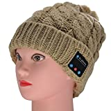 GoldWorld Bluetooth V4.1 Wireless Musical Beanie Winter Hat Knit Cap Beanies with 2 speakers Unique Christmas Gifts for Kids Men Women Teen Boys Girls Outdoor Sport Running